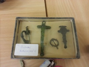 Brooches found at the site of the Roman Villa in |Rudston